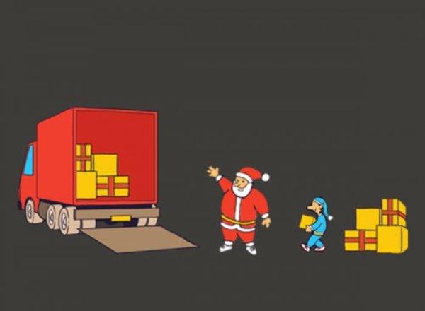 Verspreid uw kerstfolder